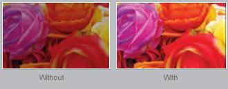 DH1009 wyposażono w BrilliantColor™ technologię przetwarzania wielu kolorów