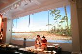 Ekran Goo na ścianie w muzeum w Australii
