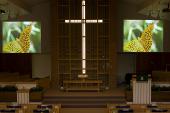 Ekrany Goo w kościele przezbiteriańskim w stanie Wisconsin